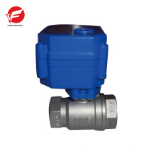 CWX-15q motorized ball electric plastic water flow control valve