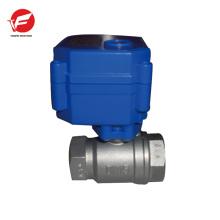 Válvula de controle de fluxo de água plástica elétrica de bola motorizada CWX-15q