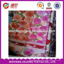 Tejido 100% algodón estampado para juego de cama en weifang china