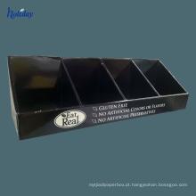 caixa de exposição impressa costume do contador das caixas de exposição do Tabletop com ganchos