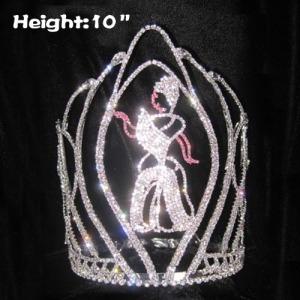10in altura atacado cristal Cinderela coroas