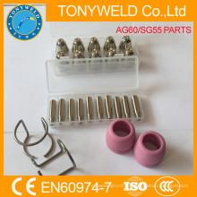 AG60 SG55 плазменной сопла и electorde