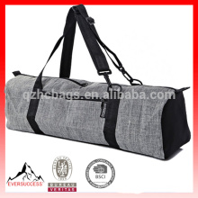 Zip Cargo Pocket Yoga Mat Bags ,Grey Cotton