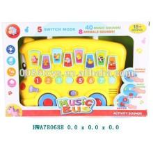 Игрушка для малышей, Музыкальная игрушка для мультфильма B / O, Обучающая игрушка Музыкальный автобус