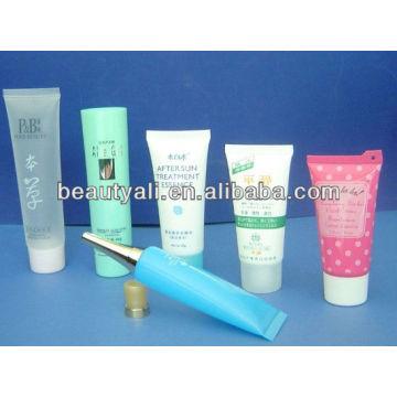 clear cap plastic cosmetic tubes