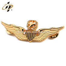 Custom military OEM metal gold pilot emblem badge