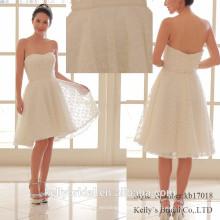 2017 aktuelle beliebte weiche Tüll mit Knoten Muster Brautjungfern Kleid