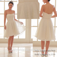 2017 current popular soft tulle with knots pattern bridesmaids dress