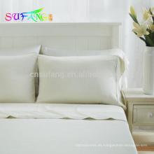 Súper lujo sedoso suave 60s 100% ropa de cama en color sólido