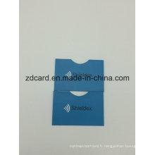 Papier en aluminium Papier RFID Porte-cartes de crédit Sac à manches