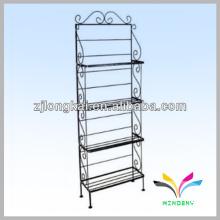 4 níveis loja de supermercado arame de metal escada dobrável suporte de prateleira de metal