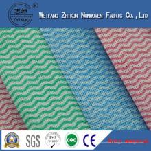 Tissu non-tissé de Spunlace de quatre couleurs pour le nettoyage de cuisine