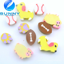 Venta caliente Anmial Shaped Erasers, Cute Erasers with Pencil Hole, Best Selling Stationery Eraser, Funny Eraser for Promotion Gift