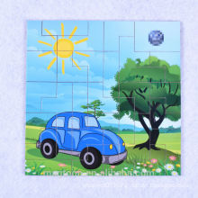 wood magnetic puzzle for kids