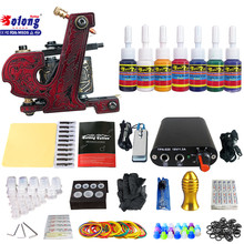 Solong TK105-61 Beginner Tattoo Kit with Tattoo Gun Power Supply Tattoo Kits With Needles