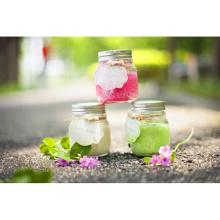 Vela de cera de cor barato com jarra de vidro
