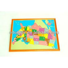 Монтессори игрушки - США Логическая карта с Beechwood FRAME