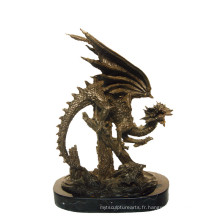 Animal Bronze Sculpture Dragon Sculpture Décor En Laiton Statue Tpy-648