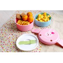 Японский оптовый круглый пластиковый bento коробка для завтрака для детей