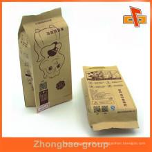 Guangzhou Zhongbao laminiert Material aseptischen benutzerdefinierte Seite Zucker-Kraft braun Papiertüte mit Druck