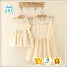 Kinder euramerican heißer Verkauf Frauen Causual neuesten Erwachsenen Designs Mode Kleid Cremig