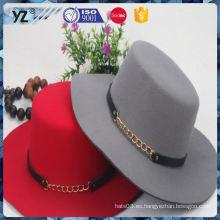 Último producto fino calidad plana top sombrero mujeres 2016