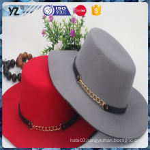 Latest product fine quality flat top women hat 2016