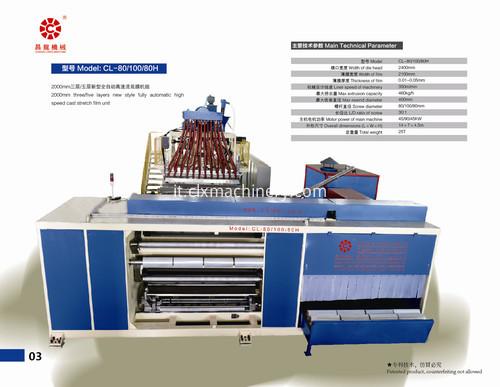 CL-80/100/80H high speed winding stretch fiilm machine