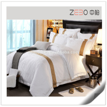 2015 Fashion and Luxury Design Super Soft Fabric White Hotel Bed Linens