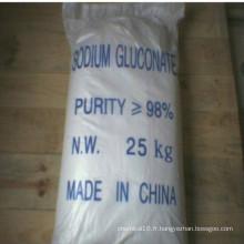Gluconate de sodium 98% Min comme additifs de béton