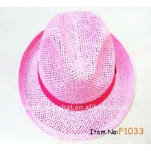 2013 heiße Verkauf Damen elegante Hüte Papier Fedora Hut