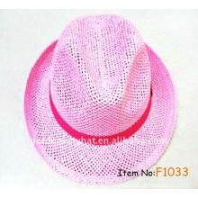 2013 Hot sale ladies elegant hats paper fedora hat
