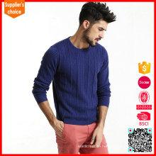 Las nuevas mangas largas de la manera embroma el suéter de encargo del telar jacquar de los suéteres