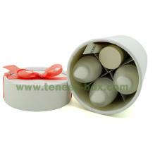 Elegant White Cylinder Cardboard Strong Box
