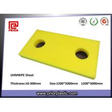 Placa de corte UHMWPE com excelente resistência ao desgaste