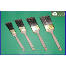 Pet Filament Beavertail Plain Wooden Handle Paint Brush