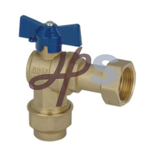 angle type lockable brass water meter ball valve with union