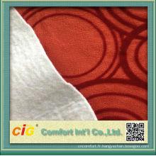 2015 hot vendre daim velours tissu avec flocage