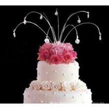 La boda que cuelga la toalla de la torta La joyería de la torta de la chispa cae la topper