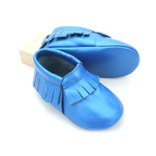 Partihandel Real Leather Anti Skid Baby Moccasins