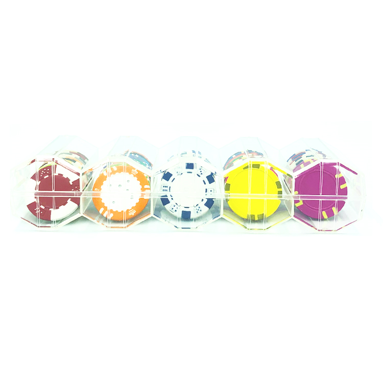 Acrylic Octagonal Rack For Casino Chips