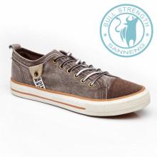 Zapatos de lona para hombre Zapatos de goma para suela exterior (SNC-011327)