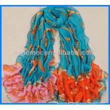 Colorful printed wholesale chiffon shawl