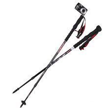 Alpenstock with professional camera hiking pole,wholesale,Hot!!!