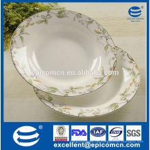 Porzellan Fabrik Großhandel elegante Haushalt Suppe Platte neue Knochen China