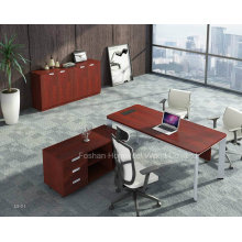 Modern Wooden Director Office Table with MFC Side Table (HF-YZL001)