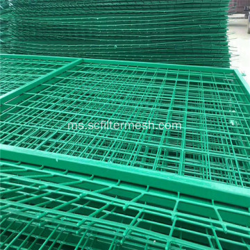 PVC Galvanized Frame Welded Wire Mesh Pagar
