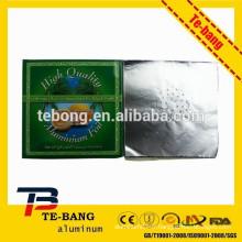 Feuilles d'aluminium en aluminium rondes pré-coupées pour les bols Shisha Smoking Pipe Clay