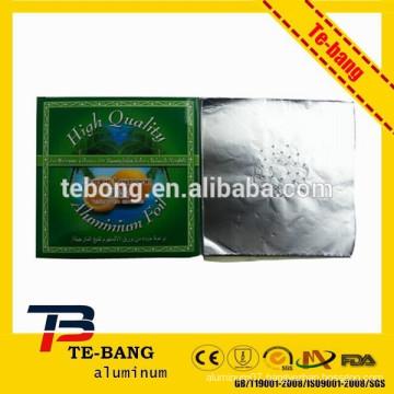 Pre-cut round silver Aluminum Foil Sheets for Shisha Smoking Pipe Clay Bowls