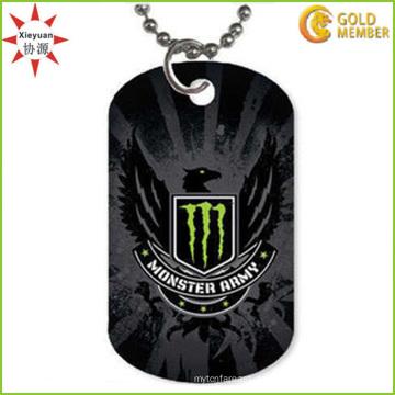 Crucible Blackplated Herren Gravierbare Diamond Eagle Dog Tag Halskette